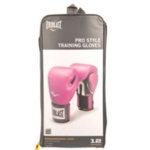 Everlast Pro Style Boxing Gloves, 12oz, Pink